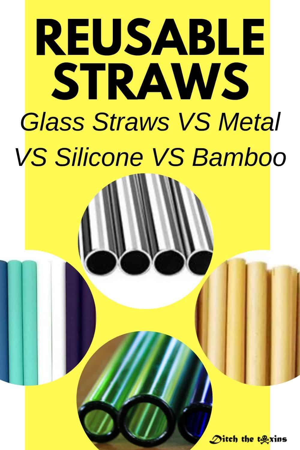 Eco-friendly resusable straws - glass - metal - silicone - bamboo